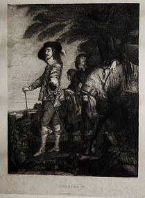 "Armand Mathey, engraving, ""Charles I"""