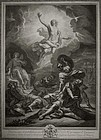 "Pierre Imbert Drevet, engraving, ""The Resurrection"""