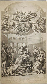 "Gerard Audran, engraving, ""The Martyrdom of St. Agnes"""