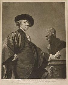 "Valentine Green, ""Self Portrait of Sir Joshua Reynolds"""