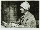 """William Lee Hankey, etching, """"Trincket Box"""""""