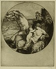 "William Strang, etching, ""The Fisherman"""