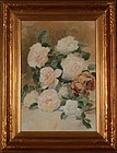 "William Frederick Stecher, ""Still Life with Roses"""