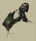 """William Schwartz, lithograph, """"Daydream"""""""