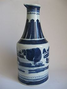 Chinese Blue and White Cantonese Wine Ewer