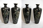 Japanese Pair of Quality Cloisonne Vases