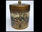 Japanese Satsuma Lidded Pot by Ryozan