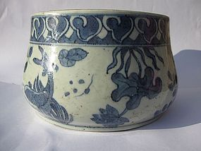 Chinese Jiajing Porcelain Aquatic Bowl, Marked