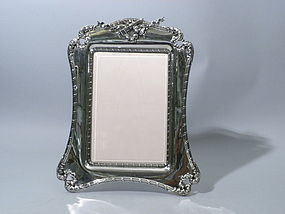 Unusual American Sterling Silver Portrait Picture Frame