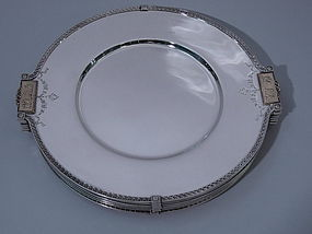 Galt And Bros Set of Eight Sterling  Dinner Plates