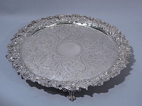 S. Kirk Sterling Repousse Salver Tray