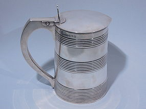 George III English London Sterling Silver Tankard 1787