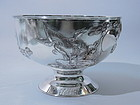 Chinese Silver Bowl With Birds Excellent Quality ZEESUN