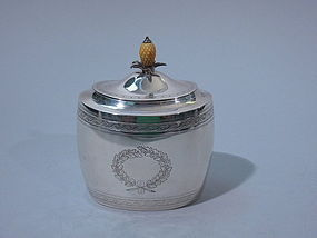 Antique English Sterling Tea Caddy  London 1898