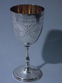 Antique English Sterling Goblet Birmingham 1869
