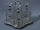 George III English London Sterling Silver Decanter 1807