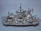 Kirk American Sterling Silver Tea Coffee Set C 1925