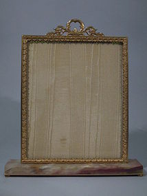 French Empire Gilt Bronze Marble Frame C 1900