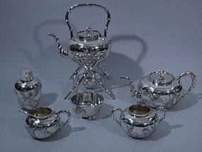 Chinese Export Silver Tea Service by HM C 1900