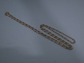 American 18 Kt Gold Chain C 1950