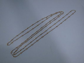 French 18 Kt Gold Chain C 1910