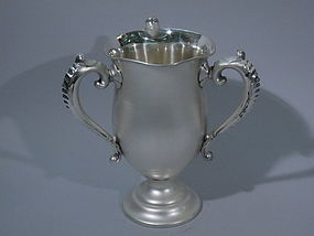 American Sterling Silver 3-Handled Trophy Cup C 1900