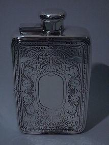 Tiffany Sterling Silver Prohibition-Era Flask C 1930