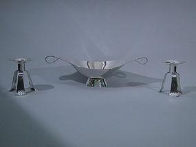 Tiffany Midcentury Sterling Silver 3-Piece Garniture