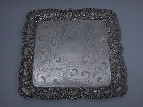 S. Kirk & Son Sterling Silver Square Tray C 1910