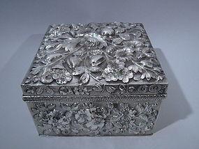 Jacobi & Jenkins Baltimore Sterling Silver Box C 1900
