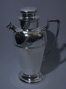 New York Art Deco Silver Plate Cocktail Shaker C 1920