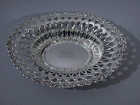 Whiting Sterling Silver Basket Bowl 1909