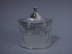American Sterling Silver Tea Caddy C 1900