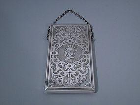 Albert Coles New York Coin Silver Card Case C 1850