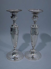 Pair of Mauser Sterling Silver Candlesticks C 1900