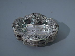 12 American Sterling Silver Nut Dishes, C 1900