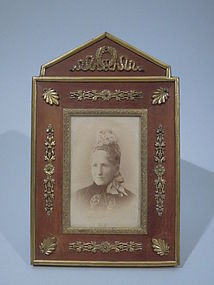 French Gilt Bronze and Stained Wood Frame C 1900