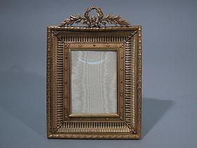 French Empire Dore Bronze Picture Frame