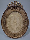 French Rococo Gilt Bronze Dore Oval Frame C 1900
