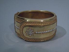 Victorian English 18 Kt Gold Cuff C 1880
