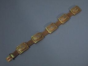 Antique Victorian American 14 Kt Gold Bracelet C 1880
