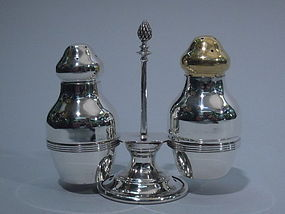 Tiffany Salt and Pepper Shakers on Stand