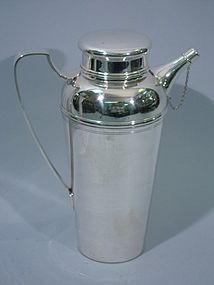 Large Tiffany Sterling Silver Martini Shaker C 1950