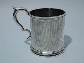 American Coin Silver Mug C 1860