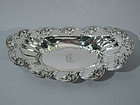 Gorham Sterling Silver Bread Tray with Irises C 1900