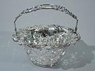 Tiffany Blackberry Sterling Silver Basket C 1905