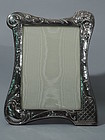 Art Nouveau Picture Frame - English Sterling Silver