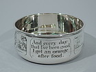 Antique Sterling Silver Porringer with Moral Message
