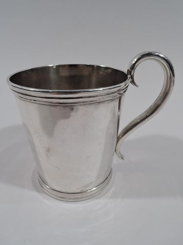 Antique Coin Silver Baby Cup - Boston C 1850