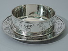 Fun Baby Gift - Kerr Sterling Silver Circus Bowl on Stand